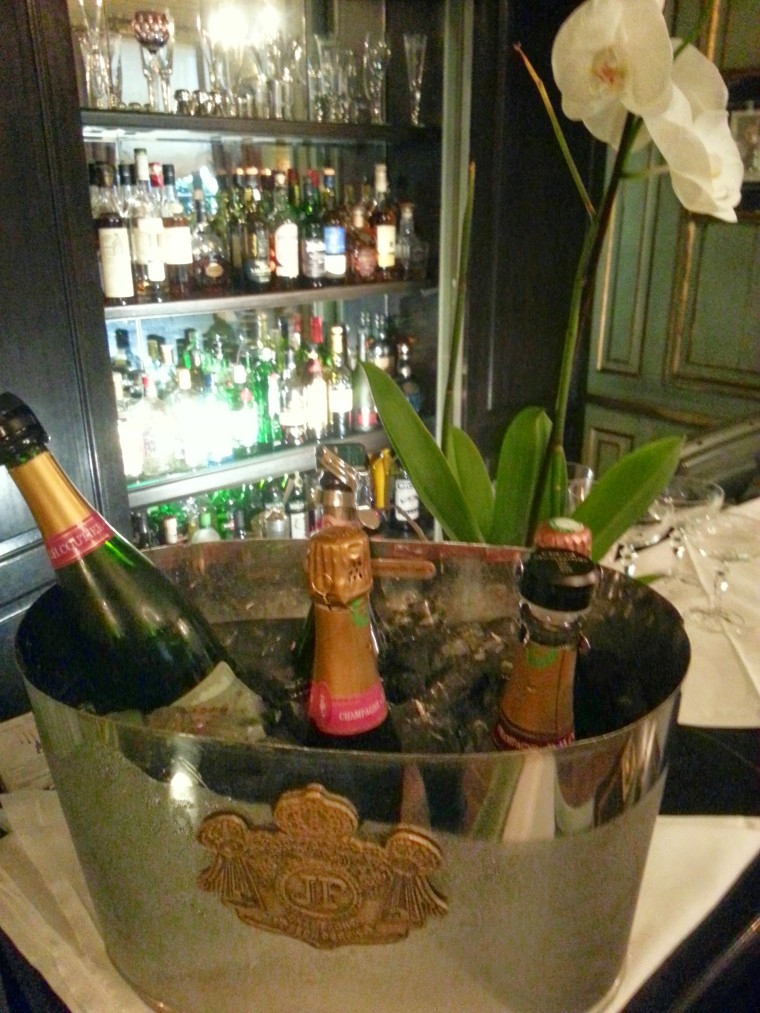 A selection of champagne at Le Dokhan's Bar