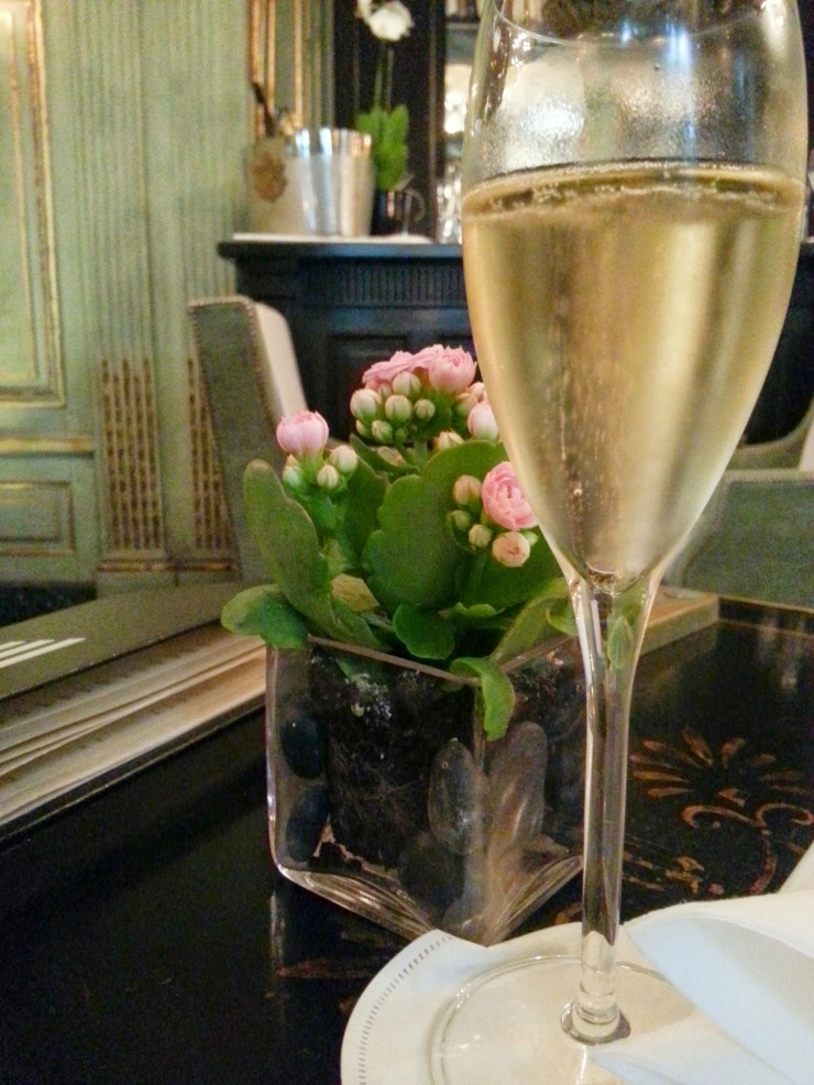 Champagne at Le Dokhan's Bar