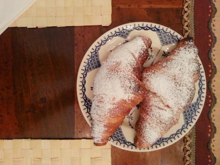 Villa Verganti Veronesi - yummy croissants for breakfast