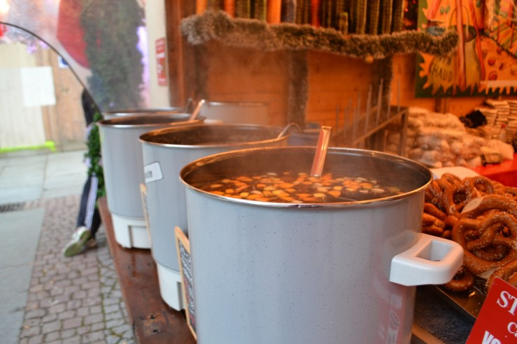 Strasbourg, France Christmas markets. Vin Chaud!
