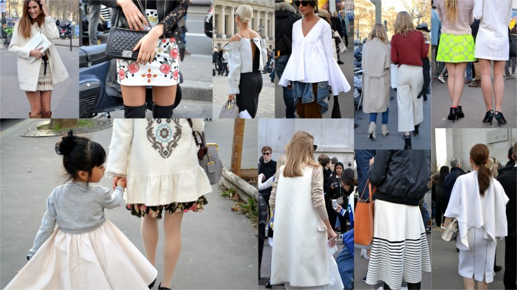 Street Fashion  - PFW 2015 Winter whites